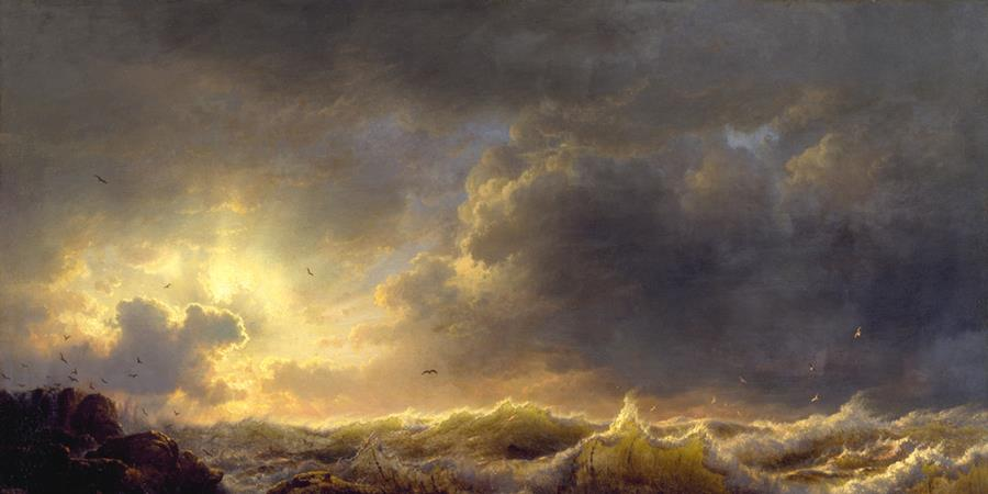 Image credit: Clearing up, Coast of Sicily (detail), Andreas Achenbach, 1847, The Walters Art Museum, Baltimore, Maryland.