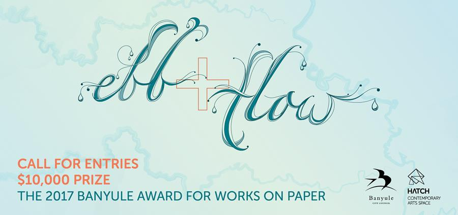 Enter now for the 2017 Banyule awards for works on paper with the theme 'ebb and flow'.