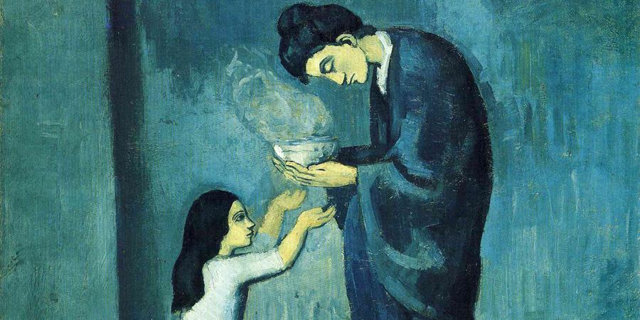 Image credit: La Soupe (detail), Pablo Picasso, 1902-03, Art Gallery of Ontario, Toronto, Canada.