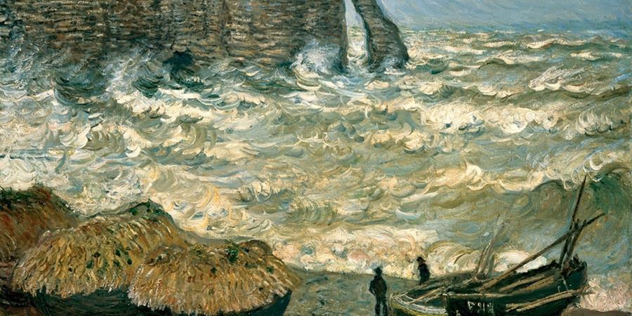 Image credit: Agitated Sea at Étretat, Claude Monet, 1883, Museum of Fine Arts, Lyon, France.