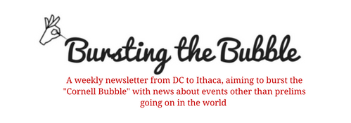 "Bursting the Bubble (Bringing news from DC to Ithaca, hoping to burst the ""Cornell Bubble"" with a weekly newsletter about events other than prelims going on in the world)"