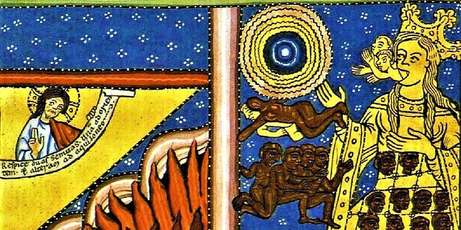 Image credit: Motherhood Through the Spirit and Water (detail), c. 1165; Source: Wikimedia Commons, PD-Old-100.