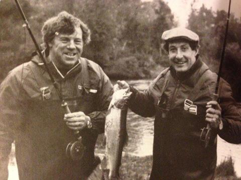 Grahame Thorne and Gareth Edwards fish the Taupo region in 1983