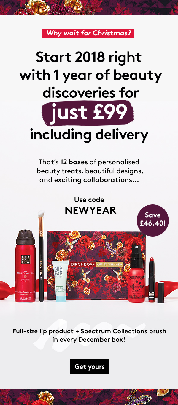 1 year of Beauty Discoveries for just £99