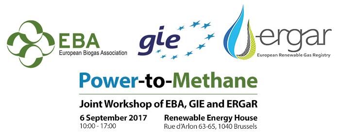 EBA / GIE / ERGaR Joint Workshop on Power-to-Methane