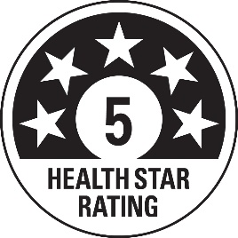 Example of a Health Star Rating.