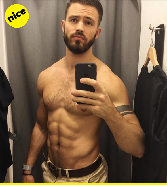 Who's the fairest of them all? It's Adrien, here, serving face and abs and veins for DAYS!