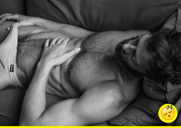 Woops! Ken slept in late today — and is giving a whole new meaning to beauty rest...