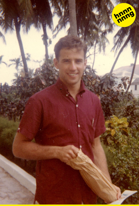 ...or is it just this smokin' hot pic of young Joe Biden? Because, damn, this guy could *get* it.