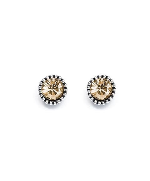 Golden Shadow Stud Earrings (E409)