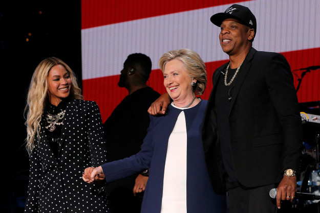 Beyonce, Hillary Clinton, and Jay Z.