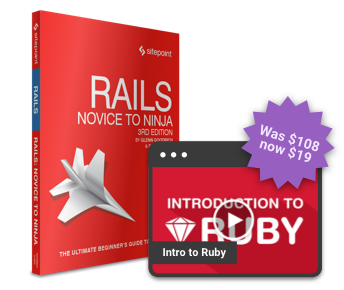 Ruby on Rails Beginner to Pro bundle for $19!
