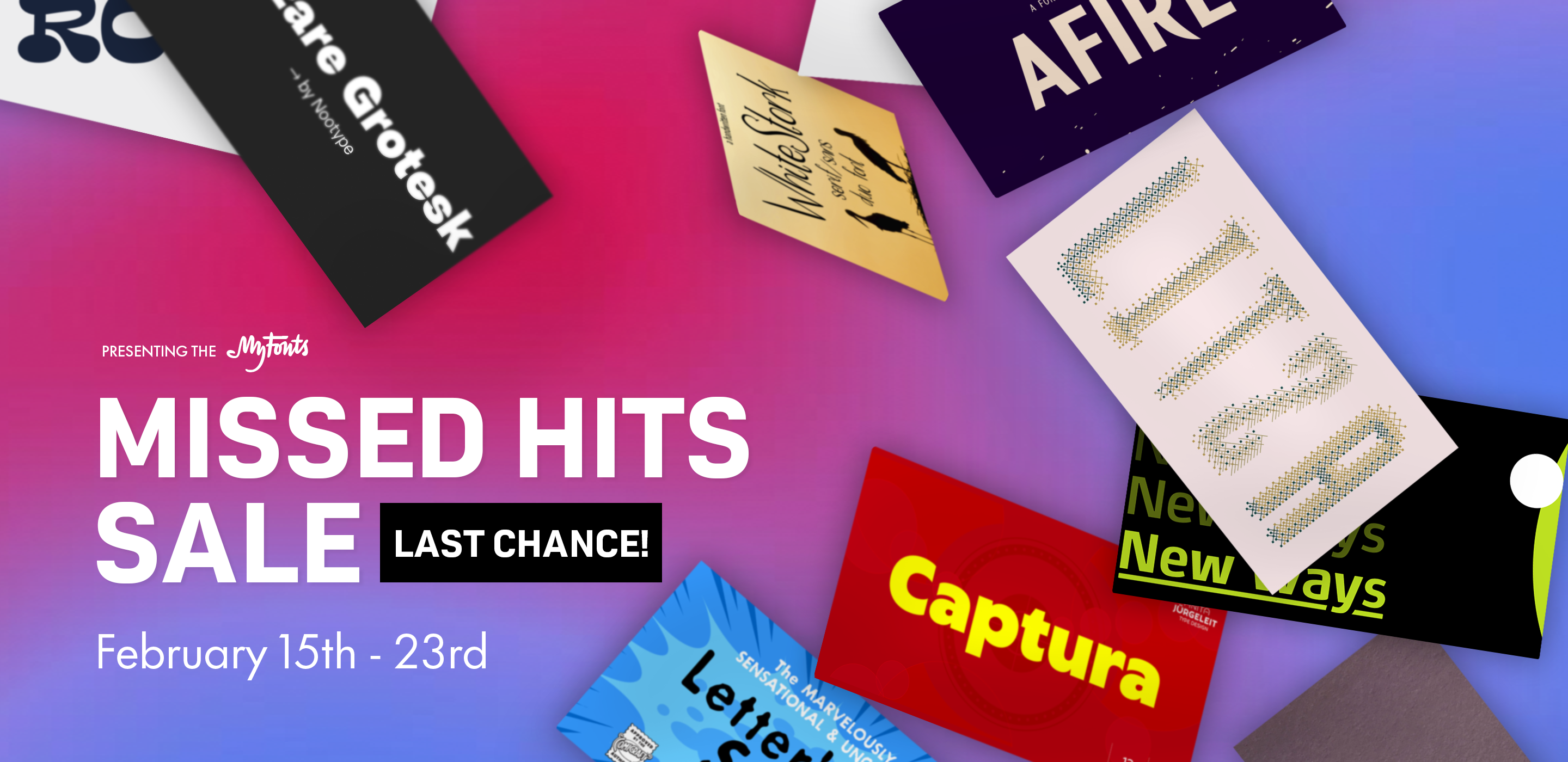 LAST CHANCE! Missed Hits SALE - Ends Tonight - Shop Now!