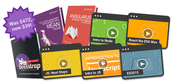 24 hours. Save $433 on the ultimate full stack JavaScript bundle!
