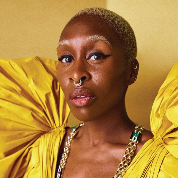 Cynthia Erivo in a yellow Valentino dress for FASHION's November 2021 cover