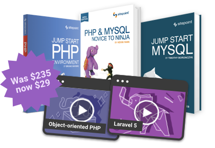24 hours to save $206 on the ultimate PHP and MySQL bundle!