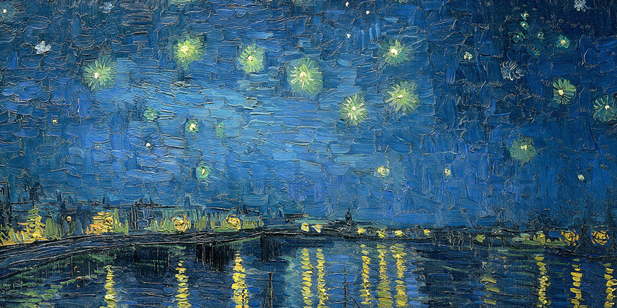 Image credit: Starry Night Over the Rhône (detail), Vincent van Gogh, September 1888 (Arles), Musée d'Orsay, Paris, France.