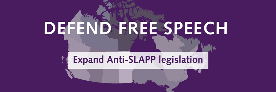Defend Free Speech: Expand anti-SLAPP legislation