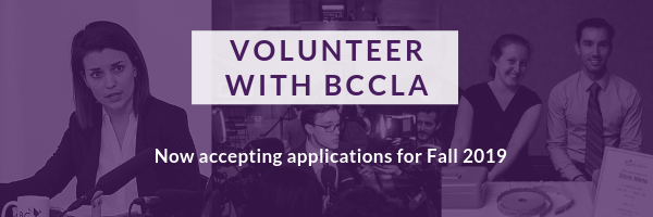 Volunteer with BCCLA