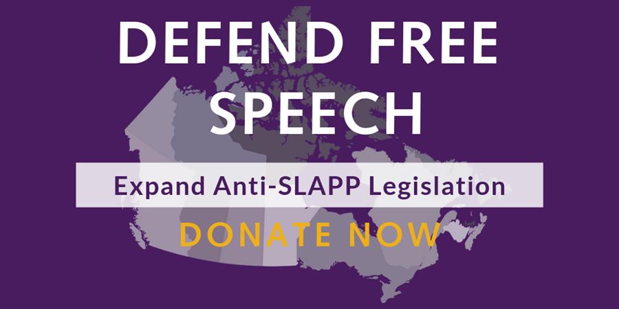 Defend Free Speech: Expand anti-SLAPP legislation