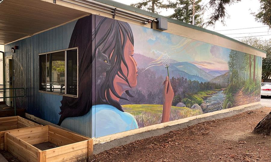 Hope Mural at Greene Middle School's Wellness Support Center