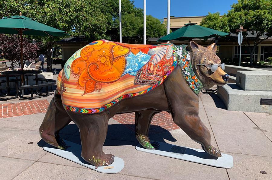 Los Altos Painted Bear by Artist Morgan Bricca