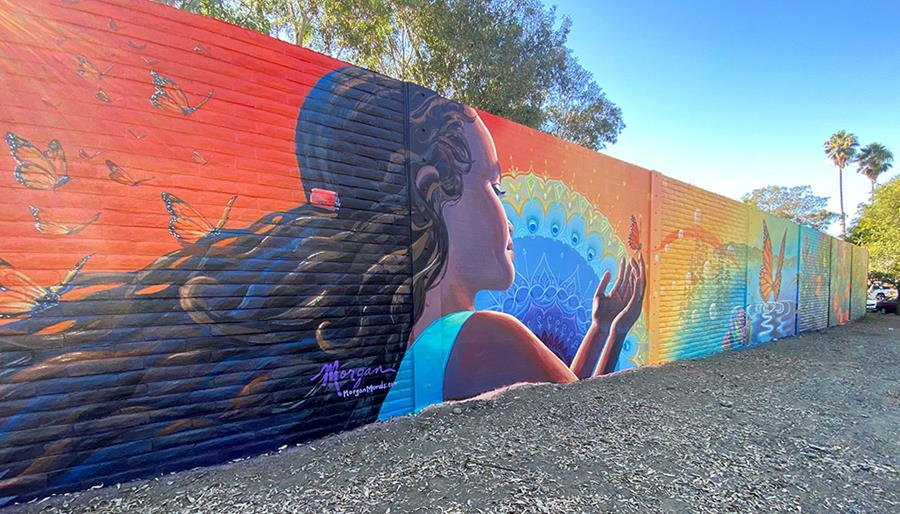 Young girl mural on Midfield Road and Havana Road in East San Jose
